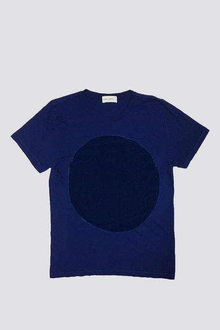Unisex Correll Correll Velvet Circle T-shirt - Royal Blue