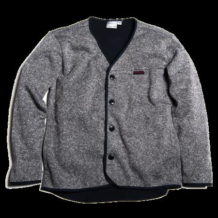 Unisex Gramicci Fleece Cardigan - Gray/Navy