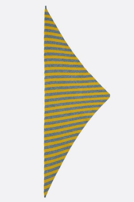 Jo Gordon Striped Triangle Scarf - Jungle/Tumeric