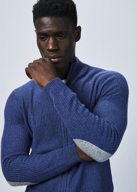 Allude Cashmere Zip Sweater - Blue