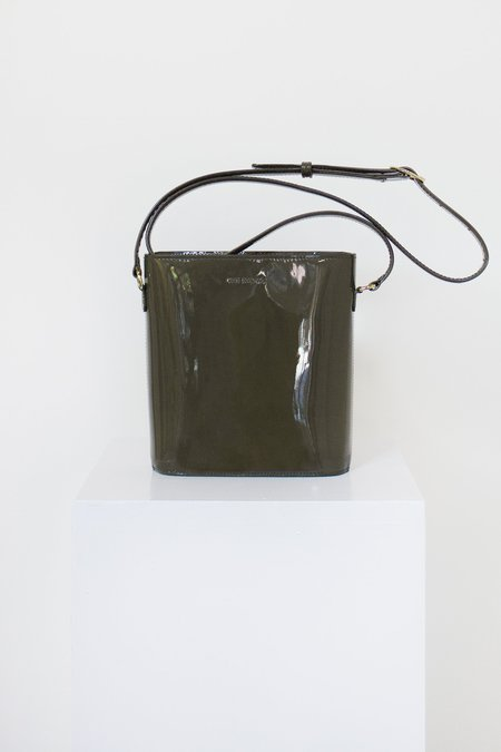 The Stowe Nellie Patent Leather Handbag - Olive