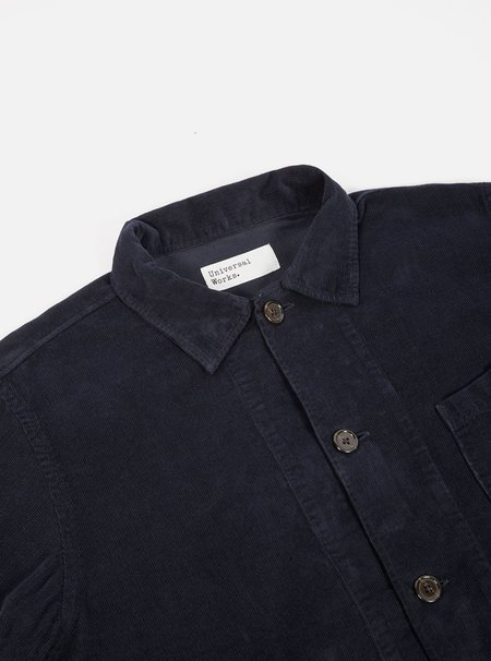 Universal Works Bakers Fine Corduroy Overshirt - Navy