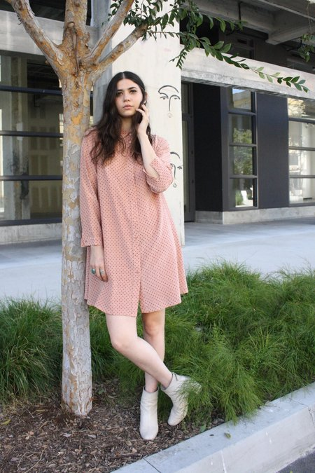 Ali Golden Long Sleeve Collared Dress