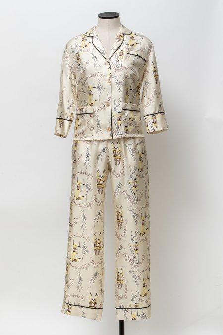 Laura Urbinati Circo Silk Pajama Pants