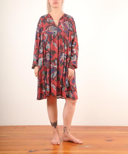 Hartford-Rivage Dress w/ Print - Terracotta