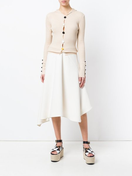 Jacquemus Ribbed Button Front Cardigan - Beige