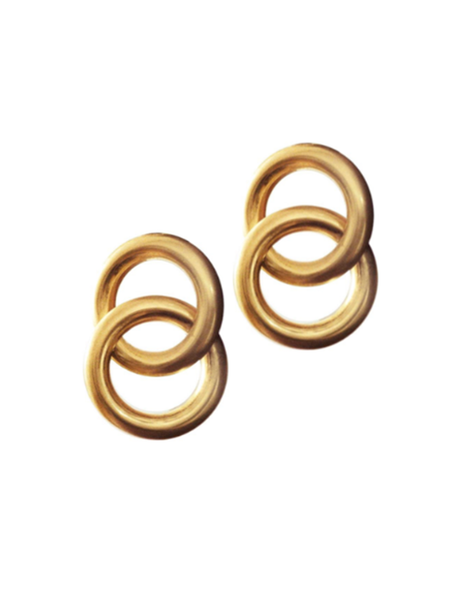Laura Lombardi Interlock Earrings - Gold