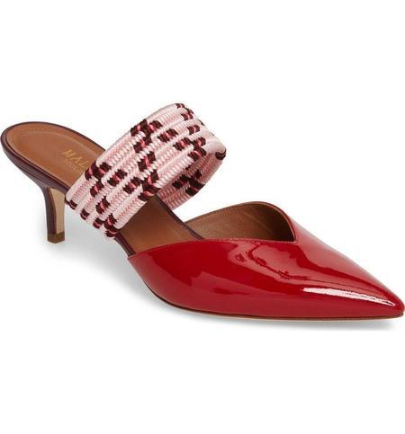 Malone Souliers Maisie 8 Kitten Heels - Red