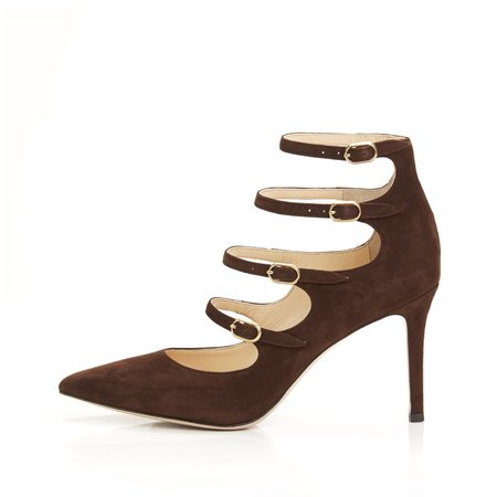 Marion Parke Mitchell Multi Buckle Pump - Cocoa
