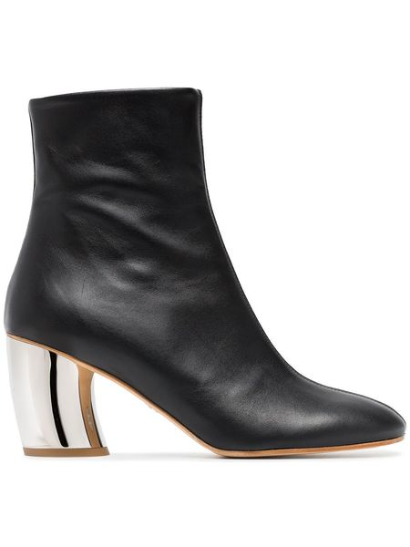 Proenza Schouler Arya Lux Calf Bootie w/ Suede - Black