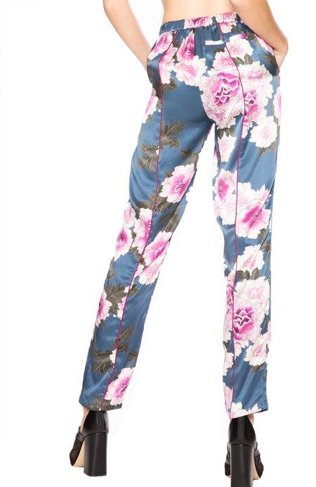 fleur du mal Silk PJ Pants - Caspian Floral