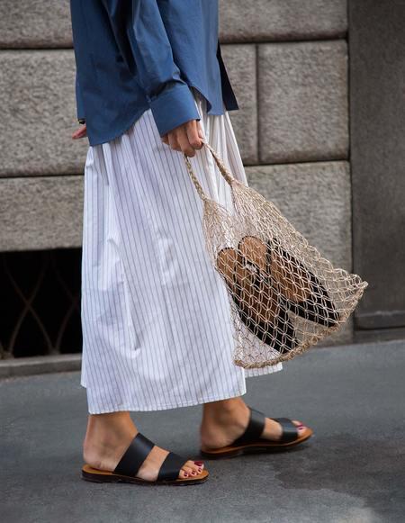 Amblême Ugalde Calfskin Sandals - Black