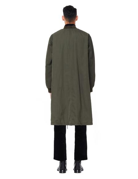 Yves Salomon Long Reversible Mink Fur Bomber Jacket