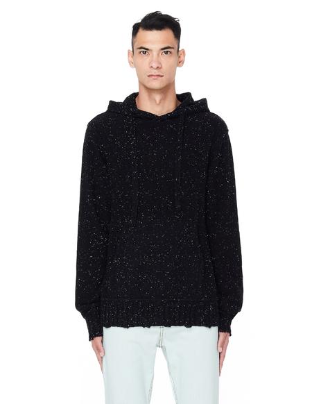 Ziggy Chen Knitted Cashmere Hoodie - Black