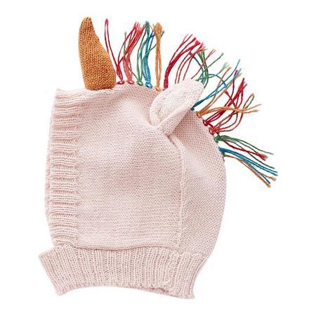 KIDS Oeuf NY Winter Hat Rainbow Unicorn - Light Pink