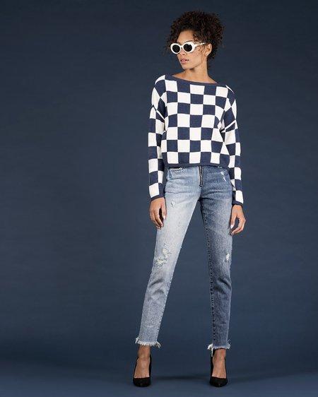 27 Miles Kiana sweater - Indigo/Linen