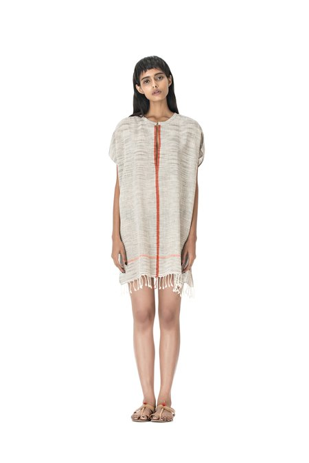 Aish Life Shalini Uma Dress - Grey/Orange