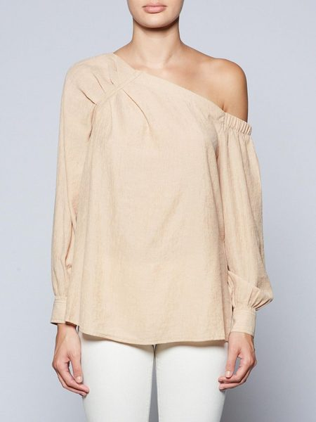Brochu Walker Ceola Off Shoulder - Apricot
