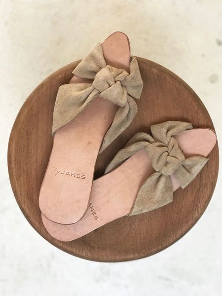By James Chelsey Knot Sandal - Nude