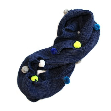 Kids Cabbages & Kings Infinity Pom Scarf