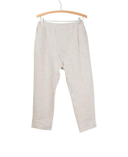 Coast Board Walk Trouser - Lapis Stripe