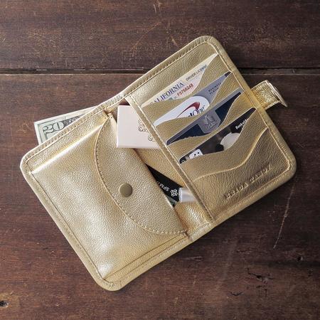 Erica Tanov Metallic Wallet - Gold