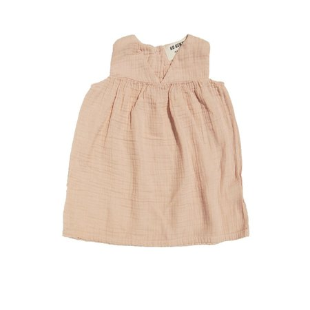 Kids Go Gently Nation Gauze Dress - Desert Pink