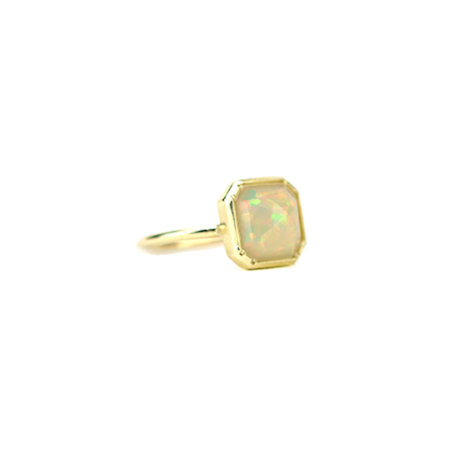 Grace Lee Designs Square Bezel Opal Ring