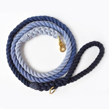 Moondog Design  Rope Leash - Navy Ombre
