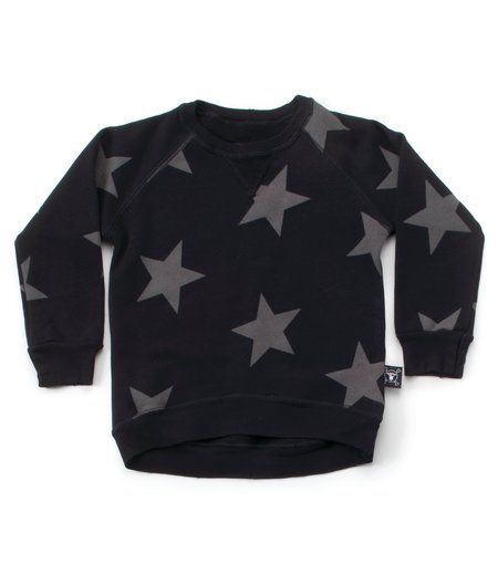 Kids Nununu Star Sweatshirt - Black