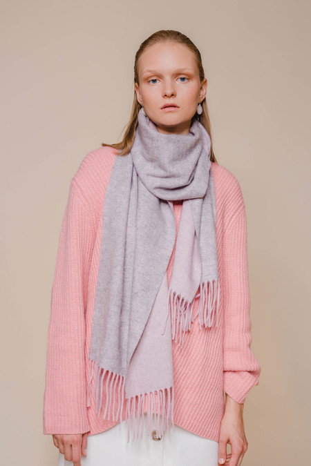 OPUSION Double-Sided Wool Scarf - GRAY
