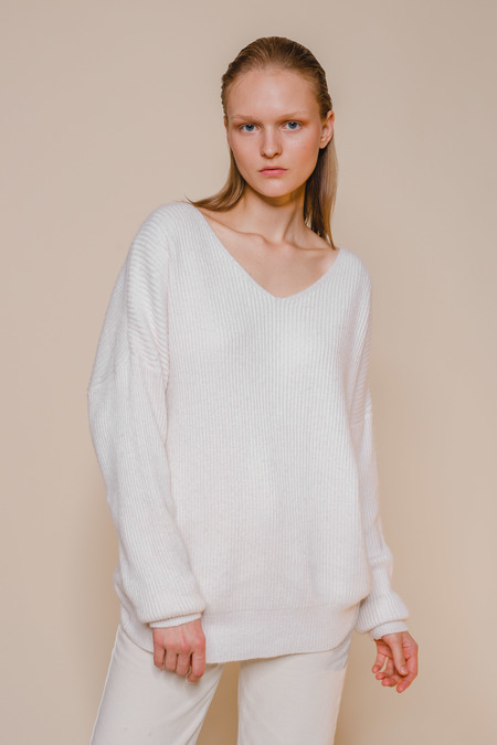 OPUSION V Neck Loose Fit Sweater