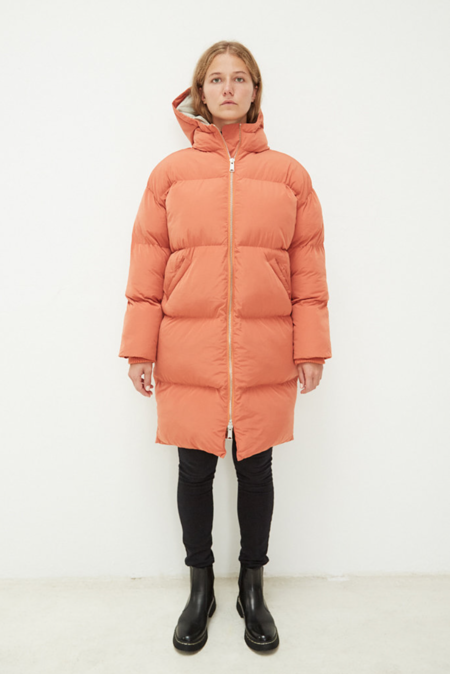 Embassy Of Bricks And Logs Elphin Down Coat - Rust Orange