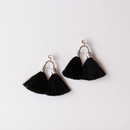 Ora-C Aria Earrings - Silver/Black