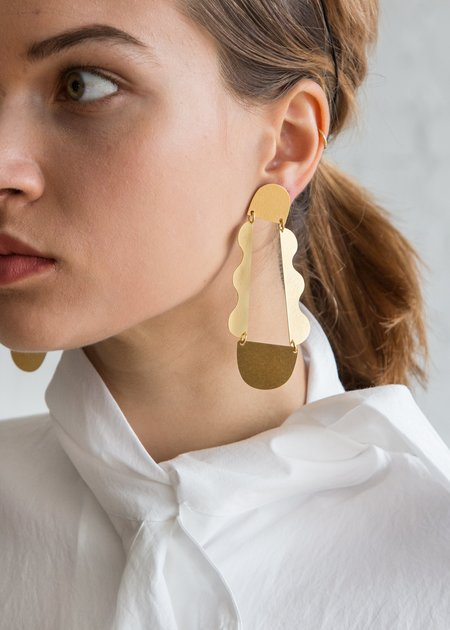 Annie Costello Brown Matisse Earring - Gold