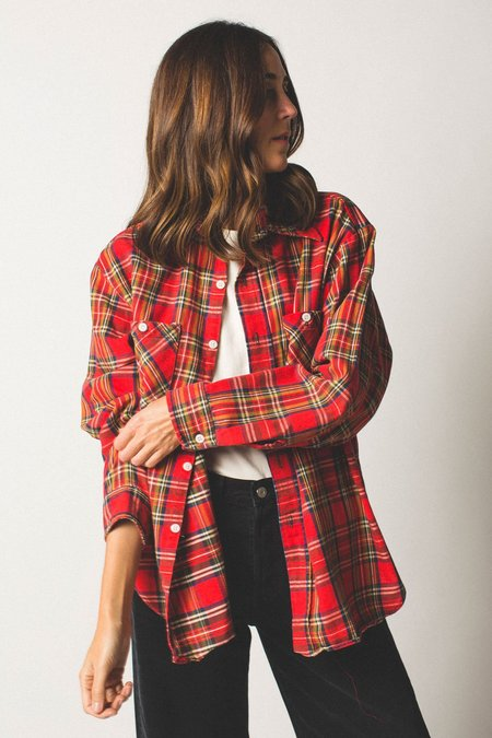 Preservation Vintage Button-Down - Red Plaid