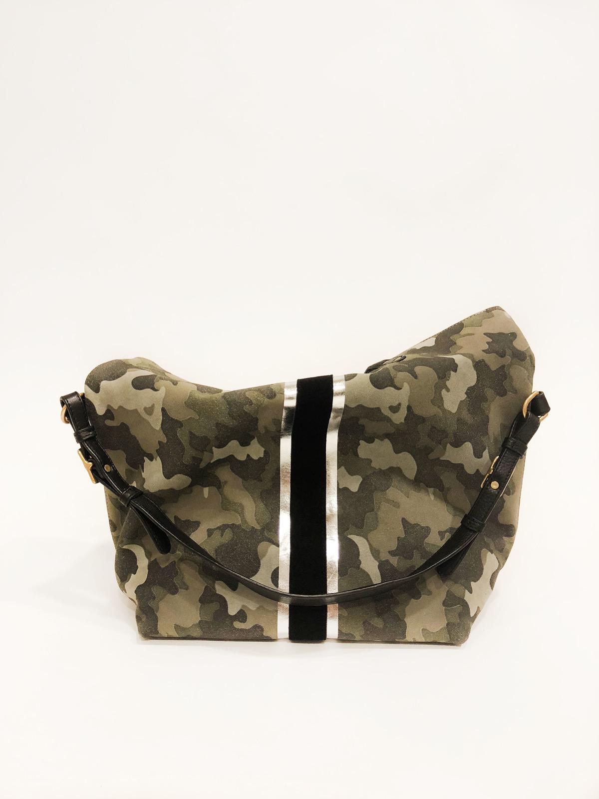 c2a19d5db7 Kempton   Co. Morleigh Suede Foldover Handbag Tote - Camo