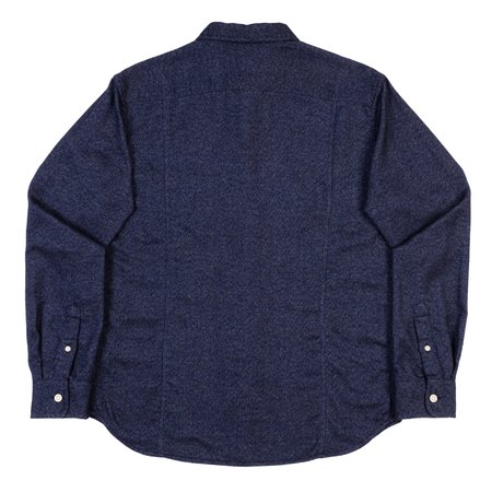 Corridor Long Sleeve Woven Shirt - Flecked Navy Flannel