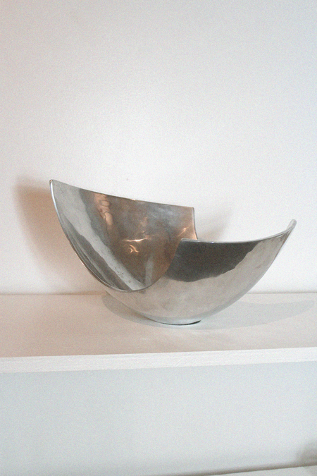 Casa Veronica Vintage Modernist Angular Bowl - Silver