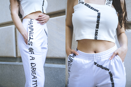 Unisex Come Tees Unknown Sessions Sweatpants - White