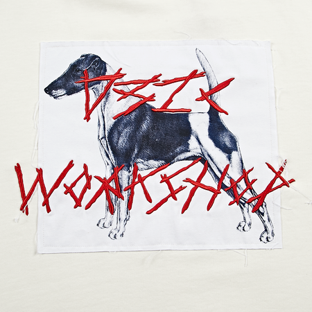 032C Dog Hoodie - Milk