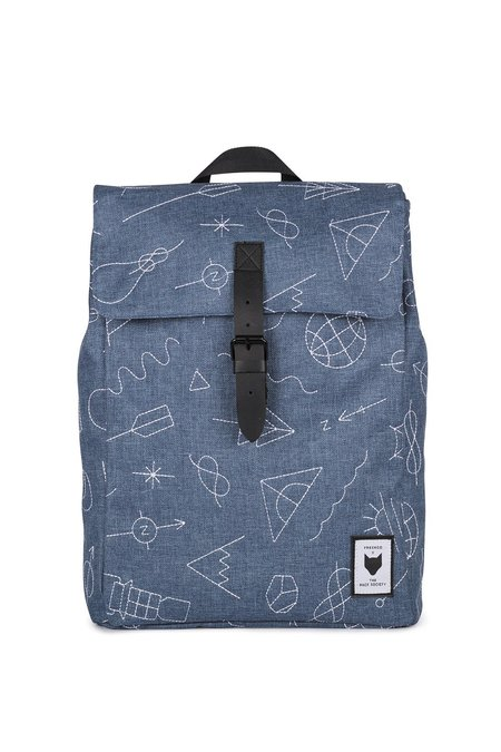 UNISEX The Pack Society SQUARE EMBROIDERY BACKPACK - LIGHT BLUE