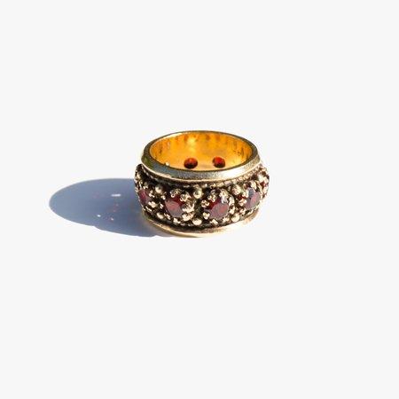 Vintage Kindred Black Golden Stars Ring