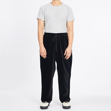 S.K. Manor Hill Wide Fit Velvet Coma Pant - Black