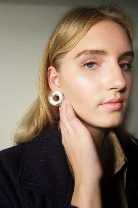 Mars Halo Stud Earrings