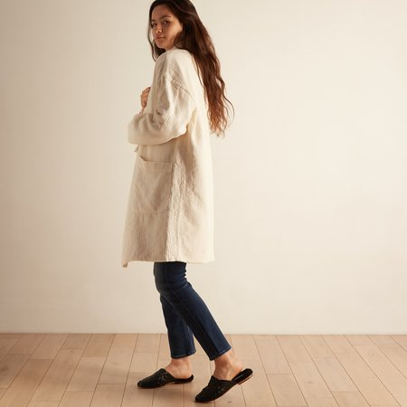 Nico Nico Gordon Quilted Long Cardigan - Ecru