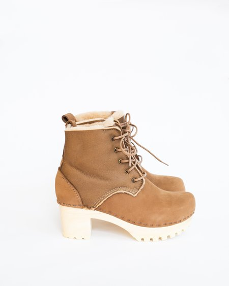 No.6 Lace Up Shearling Boot - Honey