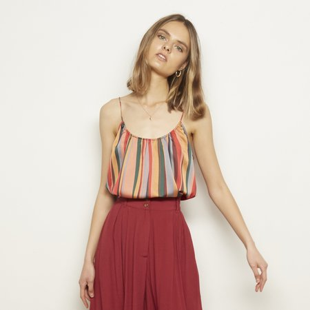 The ODELLS Tambora Cami - Wavy Stripe