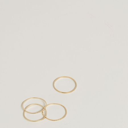 The Thorny Roses 14K Stacking Ring with Ridges - Gold