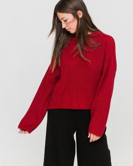 Dr. Denim Norine Sweater - Blood Red